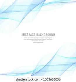 Modern bright blue business wave background