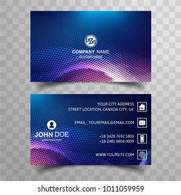 Modern bright buisness card colorful template with dotted