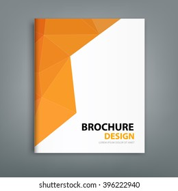 Modern brochure cover design background, professional book in poligonal style design. For your next business project, annual report and presentation.