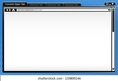 Modern Browser Wire-frame - Template - Background - Browser Window Vector Image