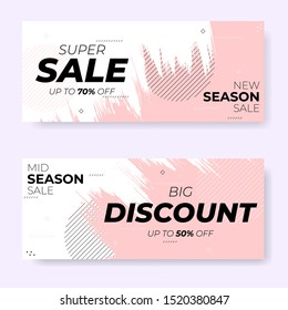 modern brush season sale banner