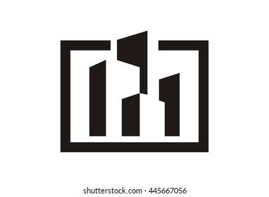 Modern Building Logo Vector
