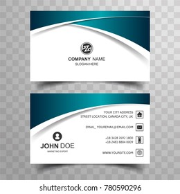 Modern buisness card with creative wave