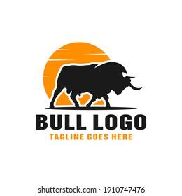 modern bull animal logo design