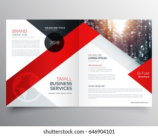 modern business bifold brochure design template or magazine page design
