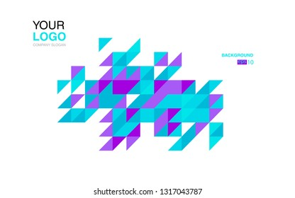 modern business brochure leaflet flyer cover template Abstract diagonal background lines