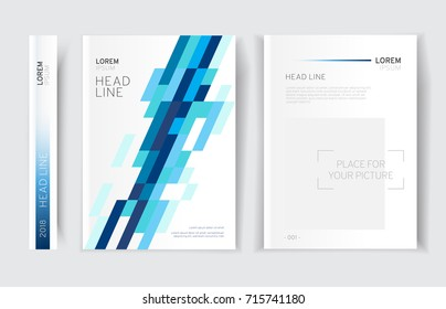 Modern business brochure, leaflet, flyer, cover template. Abstract colorful background lines, meshes, geometrical forms. Cover presentation, layout in A4 size.Vector illustration.