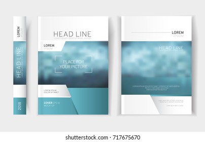 Modern business brochure, leaflet, flyer, cover template. Abstract colorful set. Cover presentation, layout in A4 size.Vector illustration.