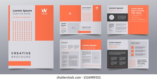 modern business brochure pages design templates