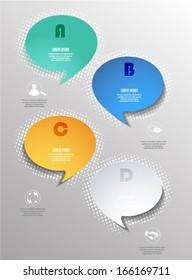 Modern business bubble speech template , workflow layout, diagram, step up options, web banner template, Vector eps10 illustration modern template design .