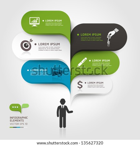 Modern business bubble speech template style. Vector illustration. can be used for workflow layout, diagram, number options, step up options, web design, banner template, infographic.