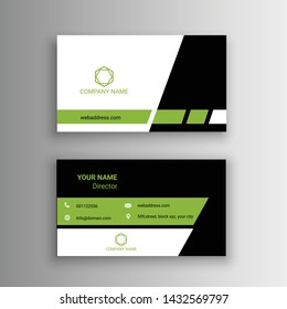 modern business card design simple creative clean vector illustration