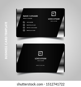 Modern business card design template. decoration name card design