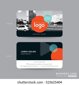 modern business card design template with space for photo background