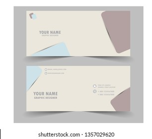 Modern business card with square
