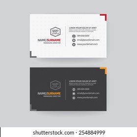 Modern business card template.