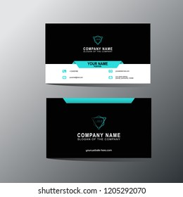Modern business card template, background, Vector, illustration, abstract design for company
