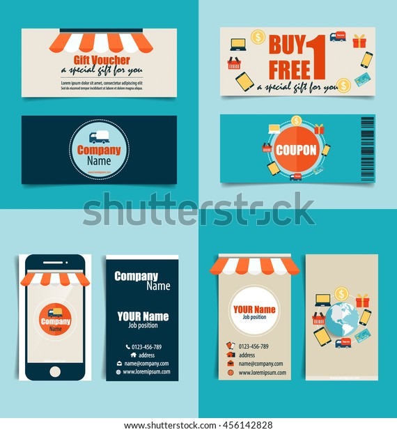 Modern Business Card Template Business Concept Stock Vector Royalty Free 456142828