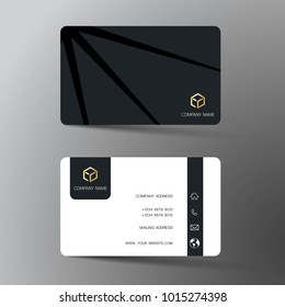 Business card template images stock photos vectors shutterstock modern business card template design with inspiration from the abstract contact card for company reheart Images