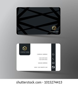 Business card template images stock photos vectors shutterstock modern business card template design with inspiration from the abstract contact card for company fbccfo Choice Image