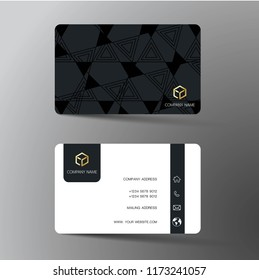 Business card template images stock photos vectors shutterstock modern business card template design with inspiration from the abstract contact card for company wajeb