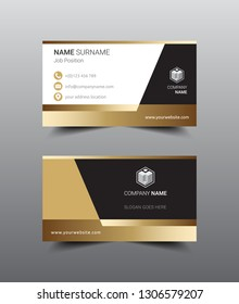 Modern business card template design. Flat style vector illustration artwork.