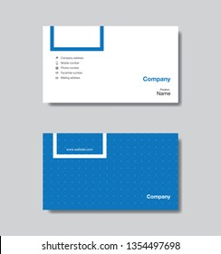 Modern business card template design. With inspiration from the abstract. Contact card for company. Vector illustration.