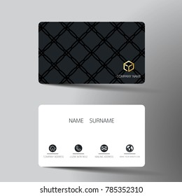 Business card template images stock photos vectors shutterstock modern business card template design with inspiration from the abstract contact card for company accmission Image collections