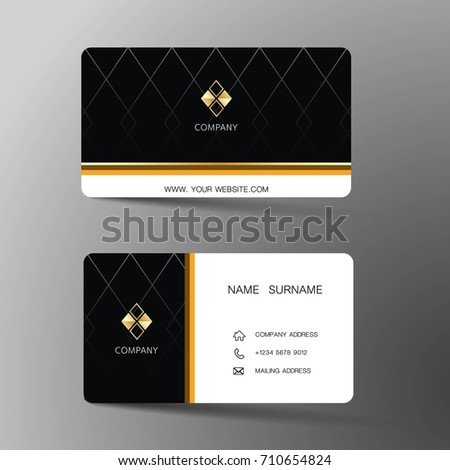 Modern business card template design inspiration stock vector modern business card template design with inspiration from the abstractntact card for company cheaphphosting Choice Image