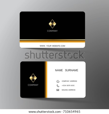 Modern business card template design inspiration stock vector modern business card template design with inspiration from the abstractntact card for company accmission Images