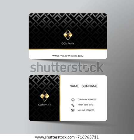 Modern business card template design inspiration stock vector modern business card template design with inspiration from the abstractntact card for company fbccfo Image collections