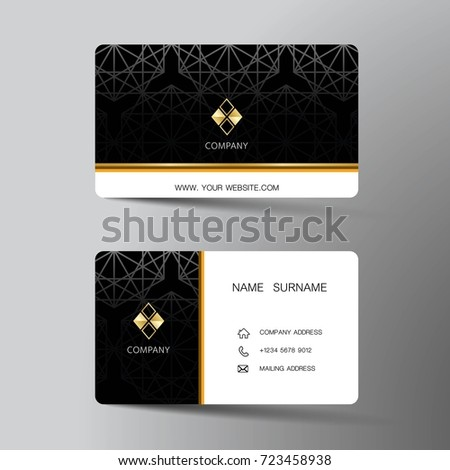 Modern business card template design inspiration stock vector modern business card template design with inspiration from the abstractntact card for company accmission Image collections
