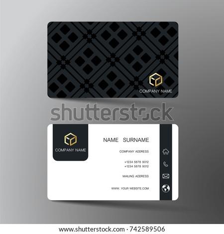Modern Business Card Template Design Inspiration Stock Vector