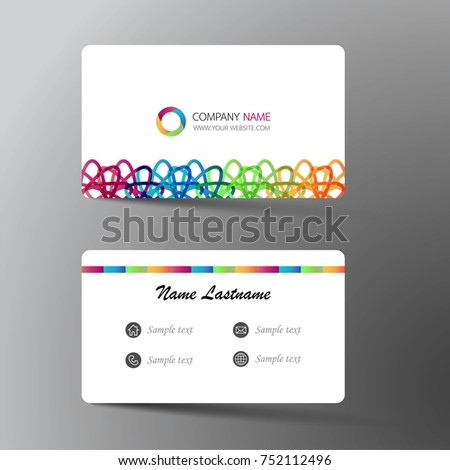 Modern business card template design inspiration stock vector modern business card template design with inspiration from the abstractntact card for company wajeb Images