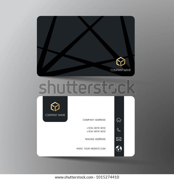 Modernes Design Für Visitenkarten Mit Inspiration Stock