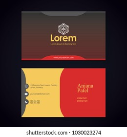 Business card images stock photos vectors shutterstock modern business card template with flat user interface reheart Choice Image