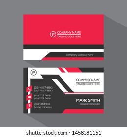 Modern business card template. Flat design vector abstract creative