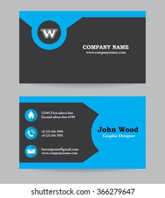 Modern business card template flat design stock vector royalty free modern business card template in flat design abstract light background personal plain business card accmission Gallery