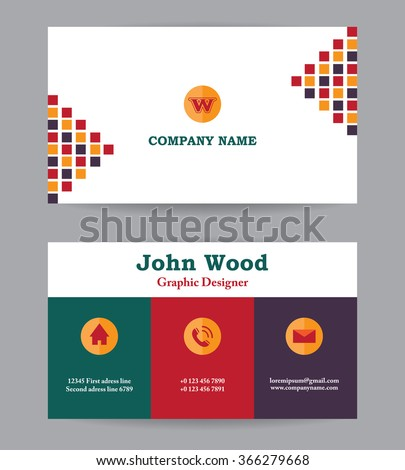 Modern business card template flat design stock vector royalty free modern business card template in flat design abstract light background personal plain business card wajeb Choice Image