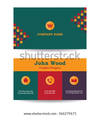 Modern business card template flat design stock vector royalty free modern business card template in flat design abstract light background personal plain business card friedricerecipe Choice Image