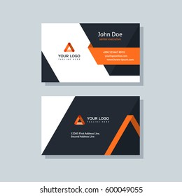 Orange business card stock images royalty free images vectors modern business card template orange colors flat design vector abstract creative reheart Choice Image