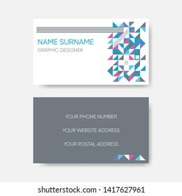 Modern business card template vector abstract geometric design