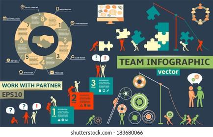 Modern Business Concept , Infographic Elements. Teamwork / partnership