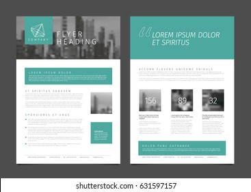 Modern business corporate brochure flyer design vector template with photo and sample content