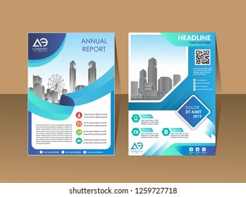 modern business cover brochure layout with shape vector illustration