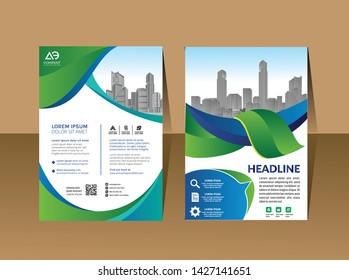 A modern business cover brochure layout with shape vector illustration