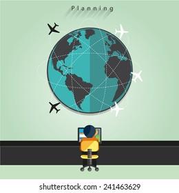Modern business flight controller working concepts