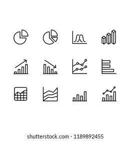 Modern business graphic icon set