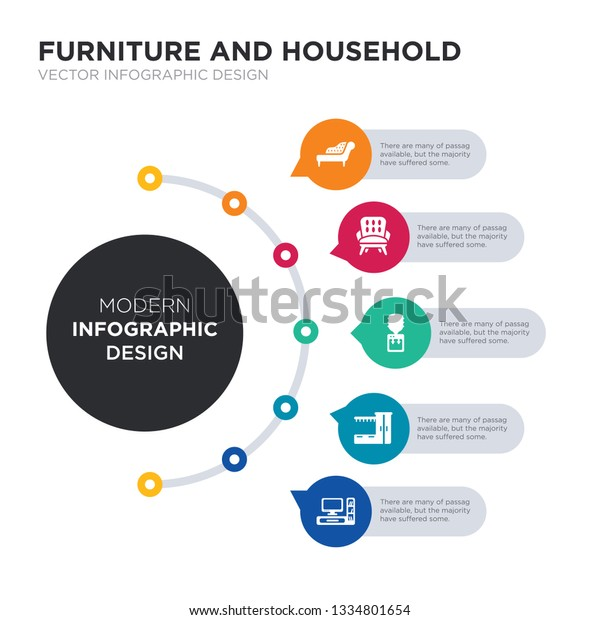 Modern Design Fauteuil.Modern Business Infographic Illustration Design Contains Stock