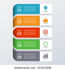 Modern business infographics banner. Origami style. Vector illustration. Can be used for workflow layout, brochure, diagram, chart, number and step up options, web design
